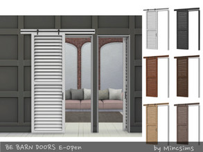 Sims 4 — Be Barn Door E Open by Mincsims — a part of Be Sliding Barn Doors