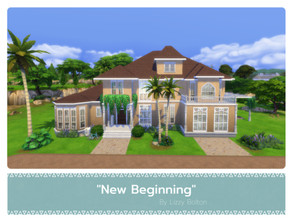 Sims 4 — New Beginning by LizzyBolton — Sul sul my little simmers! This big house is fully furnished and decorated with