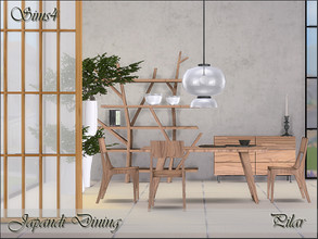Sims 4 — Japandi Dining by Pilar — fusion of Scandinavian style and Japanese spirit