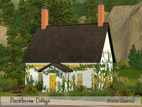 Sims 3 — Pearblossom Cottage by timi722 — This Cottage is cozy home for a small family. Landscaped with trees and bushes.