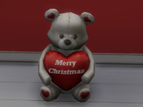 Sims 4 — KA.Christmas Bear by Alderson2020 — Merry Christmas Teddy Bear