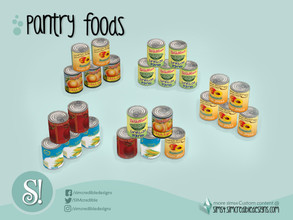 Sims 4 — Naturalis Pantry 5 Cans by SIMcredible! — by SIMcredibledesigns.com available at TSR 5 colors + contemporary