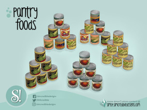 Sims 4 — Naturalis Pantry 6 Cans by SIMcredible! — by SIMcredibledesigns.com available at TSR 6 colors + vintage
