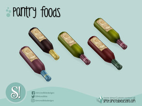 Sims 4 — Naturalis Pantry Bottle Wine by SIMcredible! — by SIMcredibledesigns.com available at TSR 4 colors variations