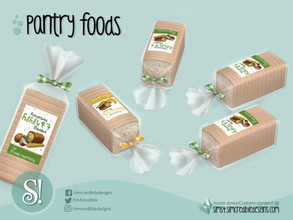 Sims 4 — Naturalis Pantry Sliced Bread pack by SIMcredible! — by SIMcredibledesigns.com available at TSR 2 colors