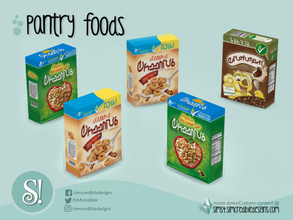 Sims 4 — Naturalis Pantry Cereal box by SIMcredible! — by SIMcredibledesigns.com available at TSR 3 colors variations