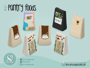 Sims 4 — Naturalis Pantry Coffee Bag by SIMcredible! — by SIMcredibledesigns.com available at TSR 5 variations