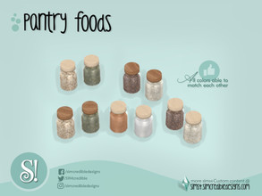 Sims 4 — Naturalis Pantry Jars 1 by SIMcredible! — by SIMcredibledesigns.com available at TSR 3 colors + variations