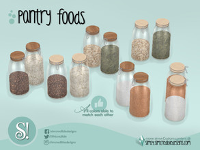 Sims 4 — Naturalis Pantry Jars 2 by SIMcredible! — by SIMcredibledesigns.com available at TSR 3 colors + variations