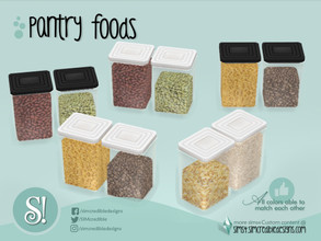 Sims 4 — Naturalis Pantry Jars 3 by SIMcredible! — by SIMcredibledesigns.com available at TSR 2 colors + variations
