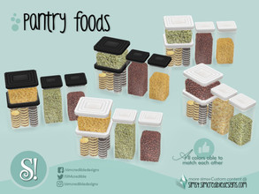 Sims 4 — Naturalis Pantry Jars 4 by SIMcredible! — by SIMcredibledesigns.com available at TSR 2 colors + variations