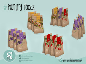 Sims 4 — Naturalis Pantry Tea Packs by SIMcredible! — by SIMcredibledesigns.com available at TSR 3 colors + variations