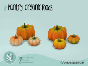 Sims 4 — Naturalis Pantry Pumpkins by SIMcredible! — by SIMcredibledesigns.com available at TSR 2 colors variations