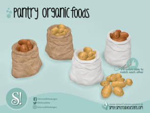 Sims 4 — Naturalis Pantry Potato Sack by SIMcredible! — by SIMcredibledesigns.com available at TSR 2 colors + variations