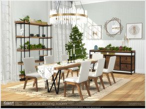 Sims 4 — Sandra dining room by Severinka_ — A set of furniture for the decoration of the dining room. Perfect for