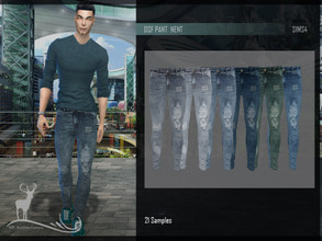 Sims 4 — DSF PANT NENT by DanSimsFantasy — Tight denim pants. It has 21 samples.