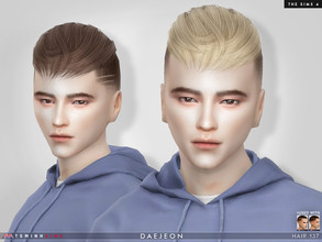 Sims 4 — Daejeon ( Hair 137 ) by TsminhSims — Check out recommends for hairbase New meshes - 20 colors - HQ texture -