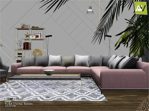 Sims 3 — Yuba Living Room by ArtVitalex — - Yuba Living Room - ArtVitalex@TSR, Dec 2020 - All objects are recolorable -