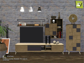 Sims 3 — Turin Living Room TV Units by ArtVitalex — - Turin Living Room TV Units - ArtVitalex@TSR, Dec 2020 - All objects