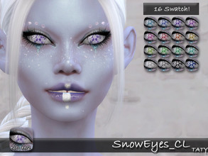 Sims 4 — [Ts4]Taty_SnowEyes_CL by tatygagg — - Female, Male - Human, Alien - Toddler to Elder - Hq Compatible