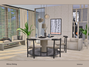 Sims 4 — Wilma Dining by soloriya — A set of furniture for your dining rooms. Includes 15 objects, has 4 color