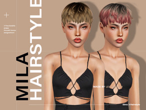 Sims 3 — LeahLillith Mila Hair by Leah_Lillith — All LODs Smooth bones Custom CAS thumbnail