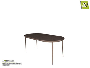 Sims 3 — Irving Dining Table by ArtVitalex — - Irving Dining Table - ArtVitalex@TSR, Dec 2020