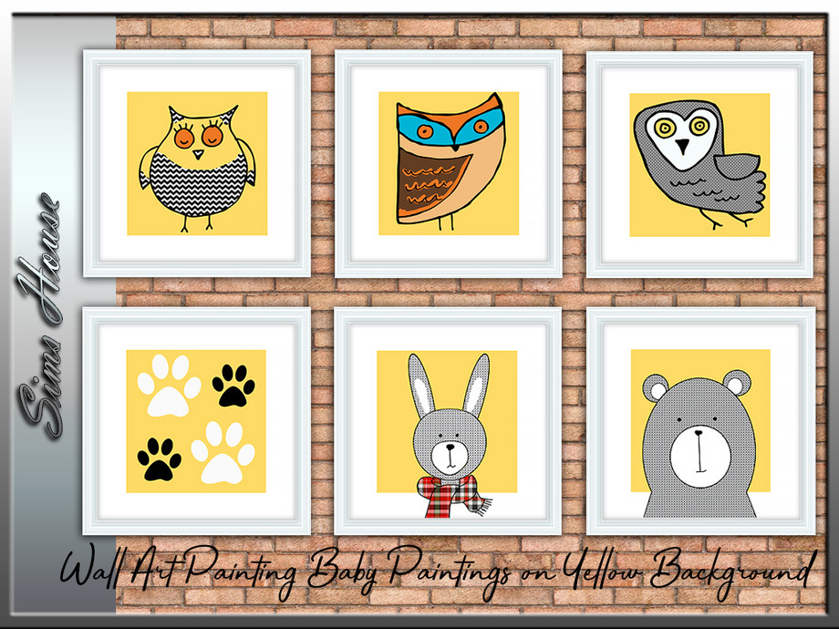 Wall Art Painting Baby Paintings, Paintings With Yellow Background