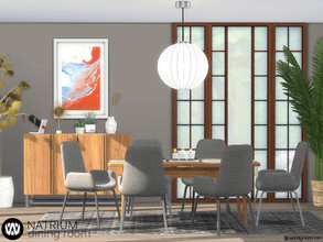 Sims 4 — Natrium Dining Room by wondymoon — Natrium dining area for your Sims! Have fun! - Set Contains * Dining Chair *