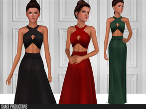 Sims 3 — ShakeProductions-S3-112 by ShakeProductions — Recolorable Long Dress