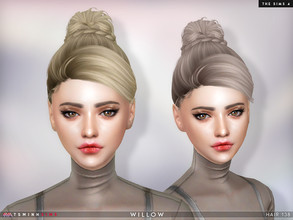 Sims 4 — Willow ( Hair 138 ) by TsminhSims — New meshes - 20 colors - HQ texture - Custom shadow map, normal map - All