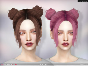 Sims 4 — Emiko ( Hair 139 ) by TsminhSims — New meshes - 20 colors - HQ texture - Custom shadow map, normal map - All