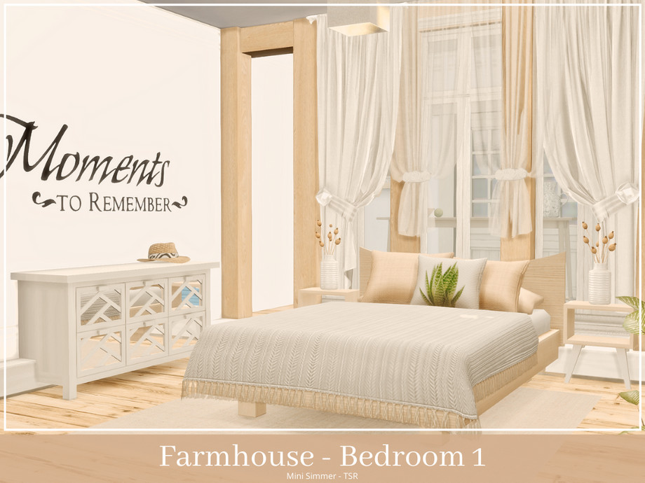 Mini Simmer S Farmhouse Bedroom 1