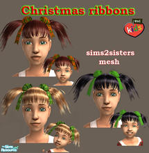 Sims 2 — evi's Christmas ribbons by evi — Christmas ribbons for your little girls! Thanks sims2sisters for the mesh.
