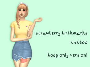 Sims 4 — strawberry birthmarks tattoo (body only version) by plasmafruitsalad — 7 types of birthmarks + 2 opacity options