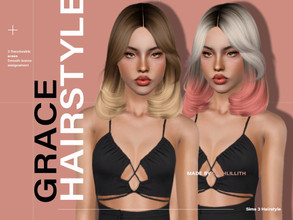 Sims 3 — LeahLillith Grace Hair by Leah_Lillith — Grace Hair All LODs Smooth bones Custom CAS thumbnail