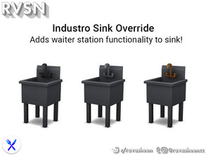Sims 4 — Industro-sink Override by RAVASHEEN — This is an override of the Industro-Sink which adds the waiter station