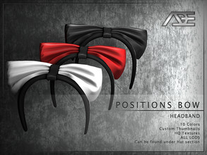 Sims 4 — Ade - Positions Bow (Headband) by Ade_Darma — **DESIGNED TO ONLY FIT POSITIONS HAIRSTYLES BY ADE** Positions Bow