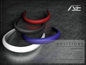 Sims 4 — Ade - Positions (Headband) by Ade_Darma — **DESIGNED TO ONLY FIT POSITIONS HAIRSTYLES BY ADE** Positions