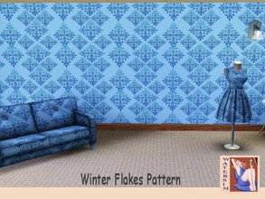 Sims 3 — ws WinterFlakes Pattern by watersim44 — Selfmade created WinterFlakes Pattern in blue colors TSRR - Yes Created