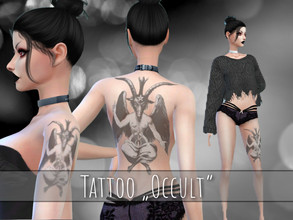 Sims 4 — NVS-Occult Tattoo by NVSatyria2 — -Works with every Skin -Base Game compatible -Categorized under Back Tattoo -1