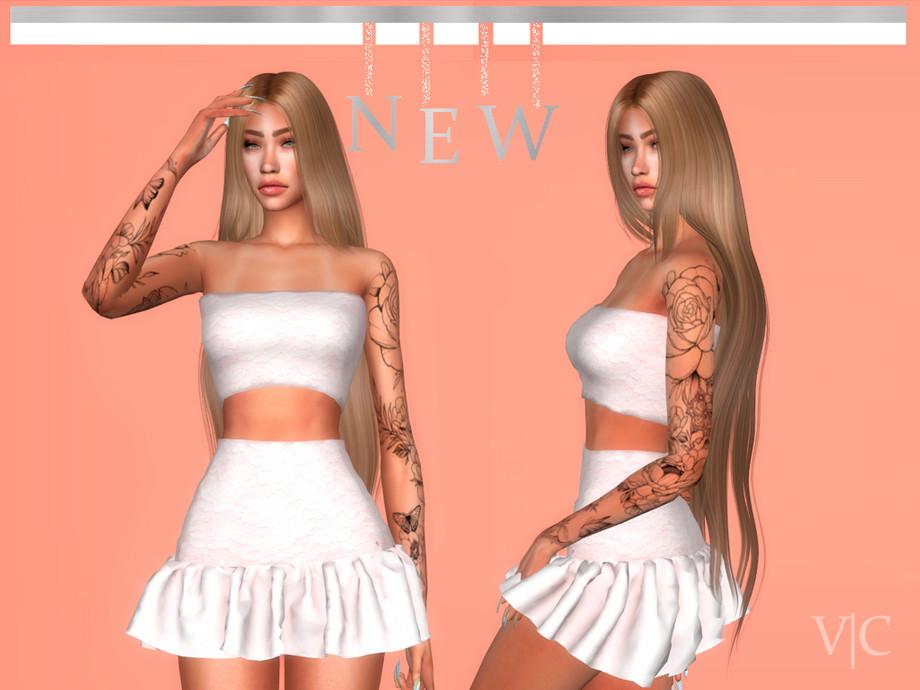 Dress VI Autumn VI by Viy Sims at TSR » Sims 4 Updates