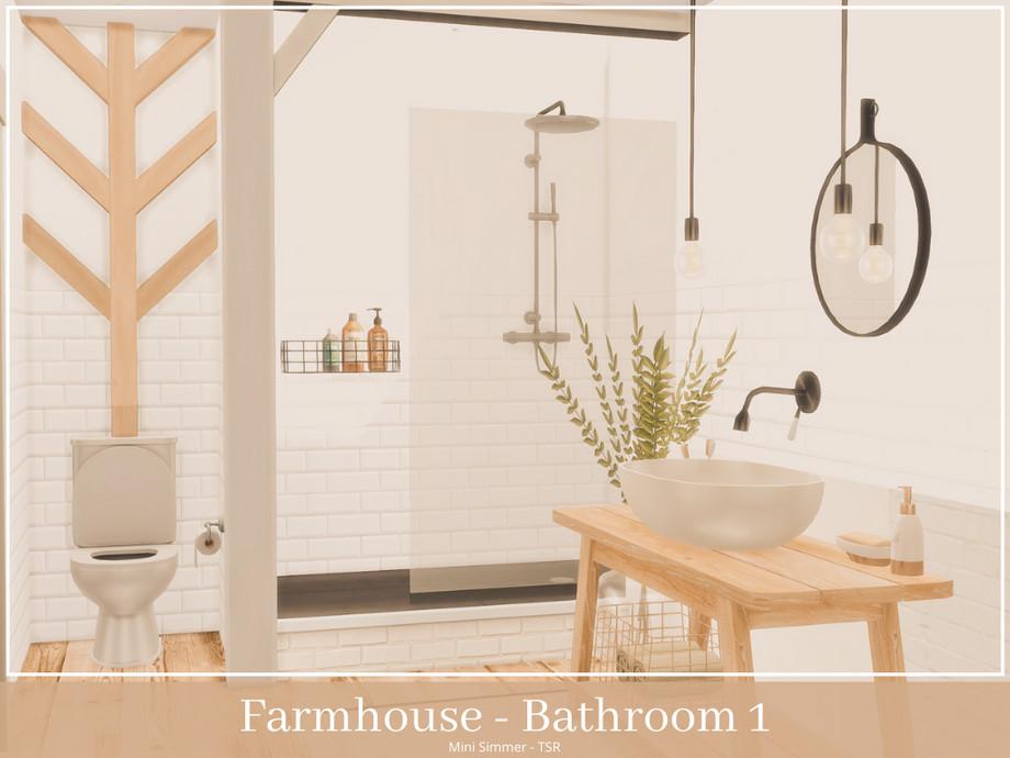 Mini Simmer S Farmhouse Bathroom 1