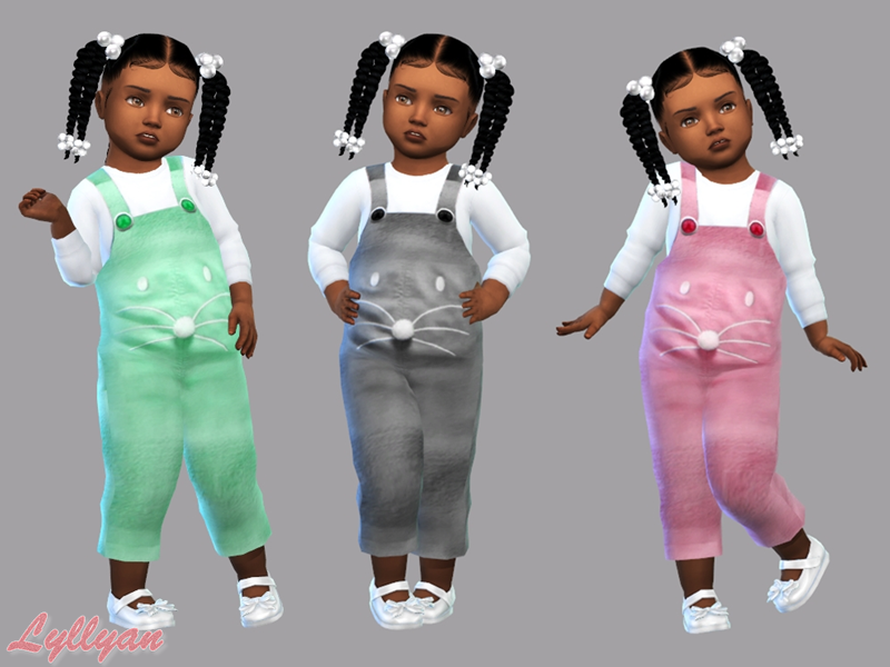 Sims 4 —  Jumpsuit Daniela Toddler by LYLLYAN —  Jumpsuit in 5 colors You must own the latest toddler stuff pack to be