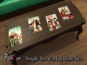 Sims 4 — Stray Kids Single Issue Magazine 2020 Set - REQUIRES MESH by PhoenixTsukino — Single magazine issues featuring