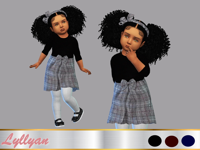 Sims 4 — Dress Paola toddler by LYLLYAN — Dress in 3 colors . You must own the latest toddler stuff pack to be able to