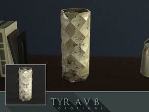 Sims 4 — Mercury Glass Vase 01 by TyrAVB — This vase with timeless and nowadays again very popular decorative mercury