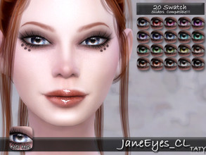 Sims 4 — [Ts4]Taty_JaneEyes_CL by tatygagg — - Female, Male - Human, Alien - Toddler to Elder - Hq Compatible - Sliders