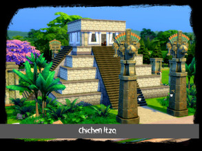 Sims 4 — Chichen Itza by GenkaiHaretsu — Ancient Mayan temple straight from Mexico. Unidentified plot to visit.
