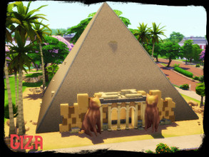 Sims 4 — Giza by GenkaiHaretsu — A replica of the Giza pyramid to explore, the tomb chamber is open to you, but don't